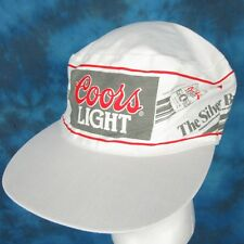 Nos vintage 80s Coors Light Beer Silver Bullet Painter'S Hat snapback bike cap