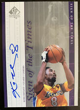 2000-01 SP Authentic Kobe Bryant Sign Of The Times Auto