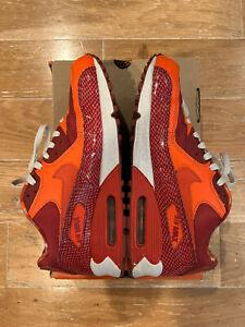 Nike Air Max 90 QK Steve Nash Orange Tart Snake Sz 10 Mens Rare Pair