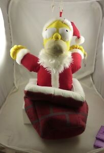 Santa Homer Simpson talking coming out Chimney Christmas stocking Kurt S. Adler