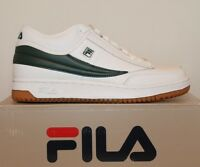 Mens Fila T-1 T1 MID Classic Retro Casual Athletic Shoes White Sycamore Gum