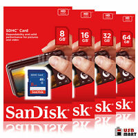 Camera memory card 8gb 16gb 32gb Sandisk class 4 sd sdhc flash canon nikon sony