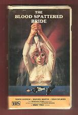 BLOOD SPATTERED BRIDE 1972 Gorgon Video BIG Box clam vhs FREE BONUS movie No DVD
