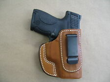 Ruger LC9, LC9S 9mm IWB Leather In The Waistband Concealed Carry Holster TAN RH