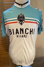 BIANCHI MILANO White Aqua Cycling Jersey Edoardo  Size XXXL.              P12891