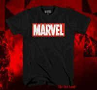 NEW Marvel Comics Black Logo Classic Vintage Mens T-Shirt