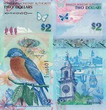 Bermuda 2 Dollars (2009) - Polymer Hybrid/p57/A-2 Prefix UNC