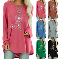 Women Loose Long Sleeve T-Shirt Ladies Baggy Casual Tunic Tops Pullover Blouse