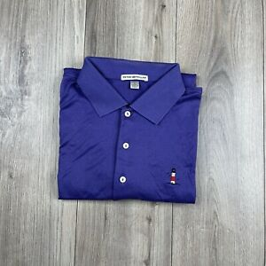 PETER MILLAR Golf Polo Shirt SANKATY HEAD GOLF CLUB Size L Large