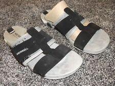 MERRELL MOVE Size 6 Black Suede Leather MIMIX Slide Sport / Walking Sandals NEW