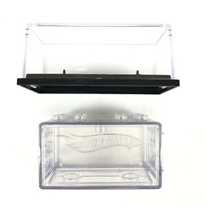 Vintage 2 Pack Hot Wheels Cars Clear Acrylic Plastic Display Cases 1/64 Scale