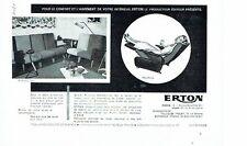 Publicité Advertising 067  1957  Erton  sièges  fauteuil Hop-Relax Naty