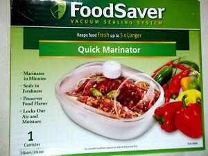 NEW IN BOX FOODSAVER QUICK MARINATOR 2 QUART CANISTER