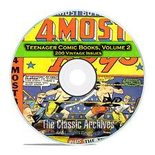 Teenager Comic Books, Vol 2, Jingle Jangle Comics, Jetta, Golden Age DVD D55
