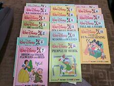 Vintage 1983 Walt Disney's Fun-To-Learn Library Bantam Books Volumes 1-19