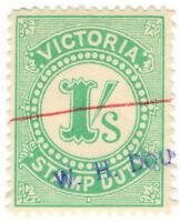 (I.B) Australia - Victoria Revenue : Stamp Duty 1/-