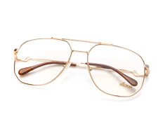 Vintage Hilton Exclusive 16 2 Gold Pilot Eyeglasses Optical Frame Lunette Brille