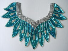 HP22 Aqua Collar Sequin Bead Applique Belly Dance Tutu Dancewear
