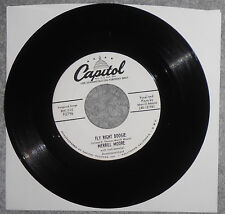MERRILL MOORE - Fly Right Boogie & Nola, Rare Rockabilly Promo 45, Plays Perfect