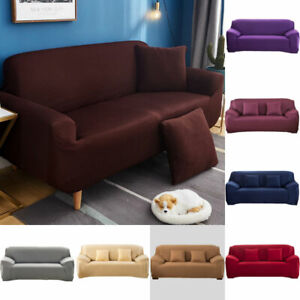 1 2 3 Seater Stretch Sofa Cover Couch Lounge Chair Slipcover Elastic Protector