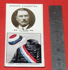 JOCKEY 1926 OGDEN'S CIGARETTES CARD TRAINERS OWNERS' COLOURS 1 F. BARLING