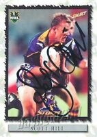 ✺Signed✺ 2000 MELBOURNE STORM NRL Card SCOTT HILL