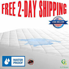 Queen Box Spring Bed Bug Protector Waterproof Zippered Allergy Relief