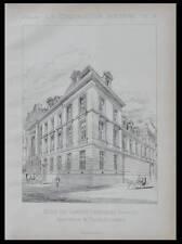 PARIS, INALCO ECOLE LANGUES - 1889 -  PLANCHE ARCHITECTURE - FAURE-DUJARRIC,