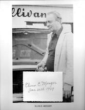Elvin Mesger Autograph Bowling Legend Perfect 300 Guinness Book Records PBA #2