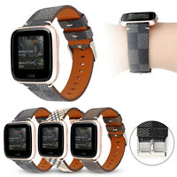 For Fitbit Versa Wristband Strap Sport Breathable Leather Replacement Watch Band