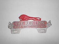 vintage style The Red Lion Roar With the Chanpions license plate topper plaque