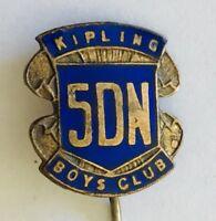 Kipling Boys Club 5DN Authentic Pin Badge Rare Vintage (H8)