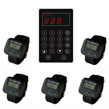 SINGCALL Wireless Paging Systems,Kitchen Calling Waiter,Customer,5 Watches