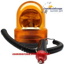 LAMPEGGIANTE LAMPADA LUCE ROTANTE 12V CALAMITA SOCCORSO AMBRA AUTO TIR TRATTORE