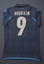 5/5 NAPOLI 2009-2010 #9 HIGUAIN FOOTBALL THIRD SHIRT JERSEY MACRON SIZE M