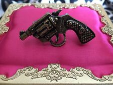 Betsey Johnson Vintage BANG BANG Gun Revolver Pistol Two Finger Double Ring