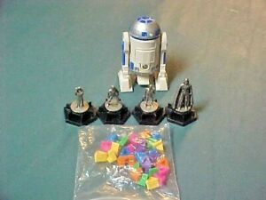 Trivial Pursuit Star Wars Classic Trilogy 1997 Replacements - 4 Pewter + R2D2