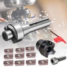 400R 50MM Face Shell Mill Cutter + R8 Shank + 10x APMT1604 Carbide Inserts Blade