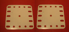 Two Meccano white plastic Plates, part No 194a