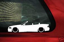 2x basso BMW e36 m3/328i/325i Cabrio/Convertible Silhouette Outline Adesivi