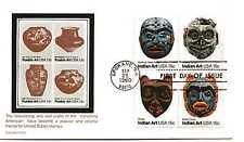 1834-37 Indian Masks Carrollton block of 4  FDC