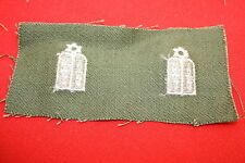 ORIGINAL VIETNAM CLOTH JEWISH JEW CHAPLAIN SHIRT COLLAR BADGES INSIGNIA