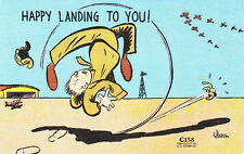 HAPPY LANDING TO YOU - WW2 U.S. ARMY AIR CORPS POSTCARD