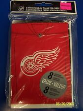 Detroit Red Wings NHL Hockey Sports Banquet Party Invitations & Thank Yous