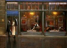 Brent Lynch: Fifth Avenue Cafe 1 Fertig-Bild 50x70 Wandbild