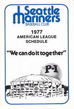 1977 Seattle Mariners Pocket Schedule