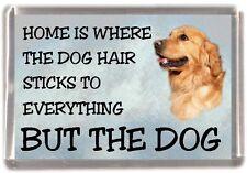 "Golden Retriever Dog Fridge Magnet ""Home is Where"" Design No 2 by Starprint"