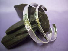 MEN'S LADIES SILVER HAMMERED TORQUE BANGLE, SOLID, HANDCRAFTED  HIS AND HERS