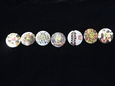 Madness-Ska-Group Shot Letters 7 Set Pins Badge Button-80's Vintage-Rare