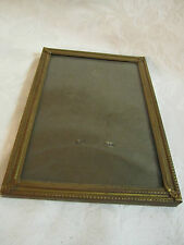 Vintage Dark Brass Finish Photo Frame with Glass – fine delicate relief